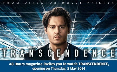 48 Hours giveaway – Win Free Tickets to Transcendence (CLOSED)