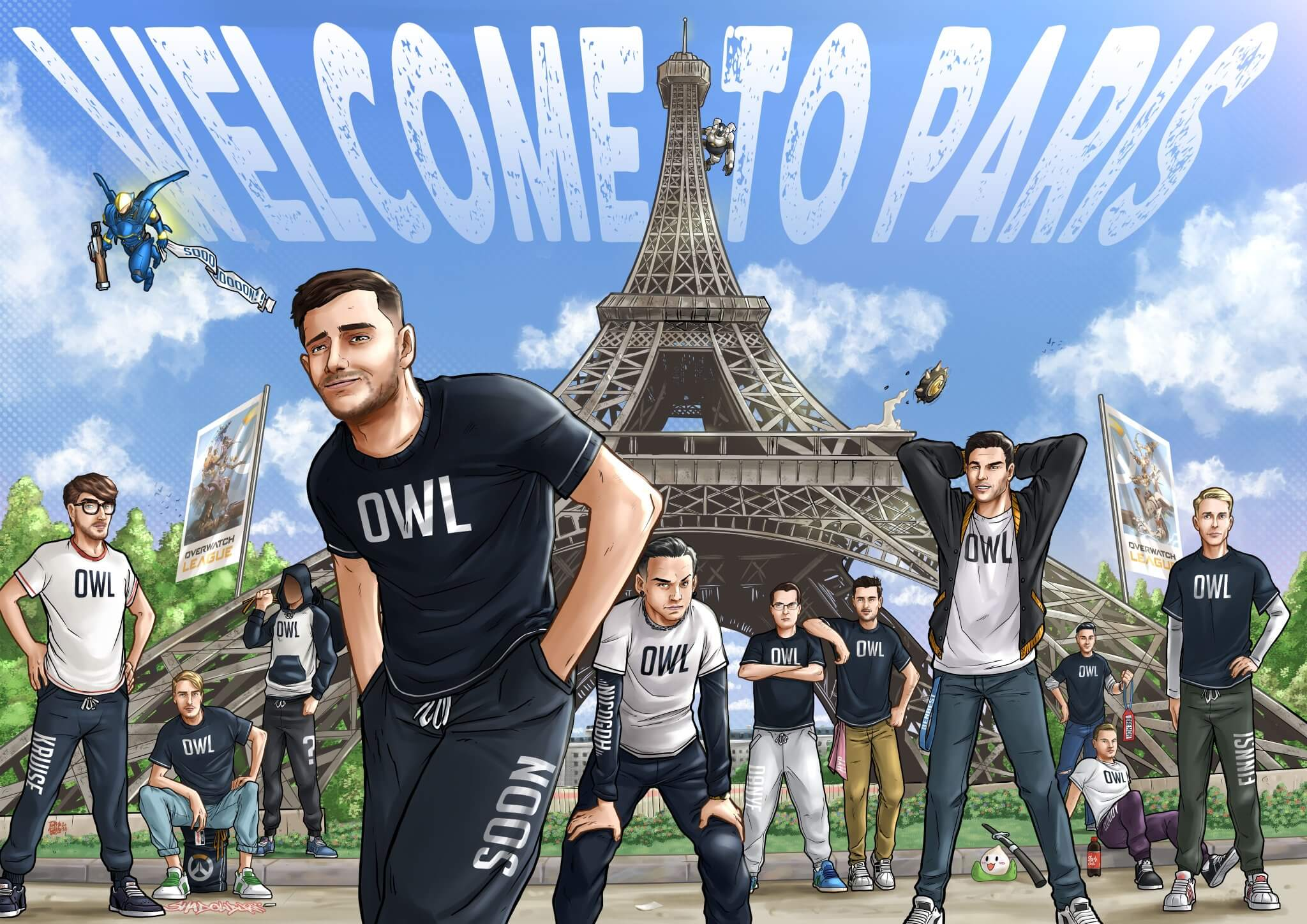 Paris becomes the first Overwatch League expansion team to reveal roster