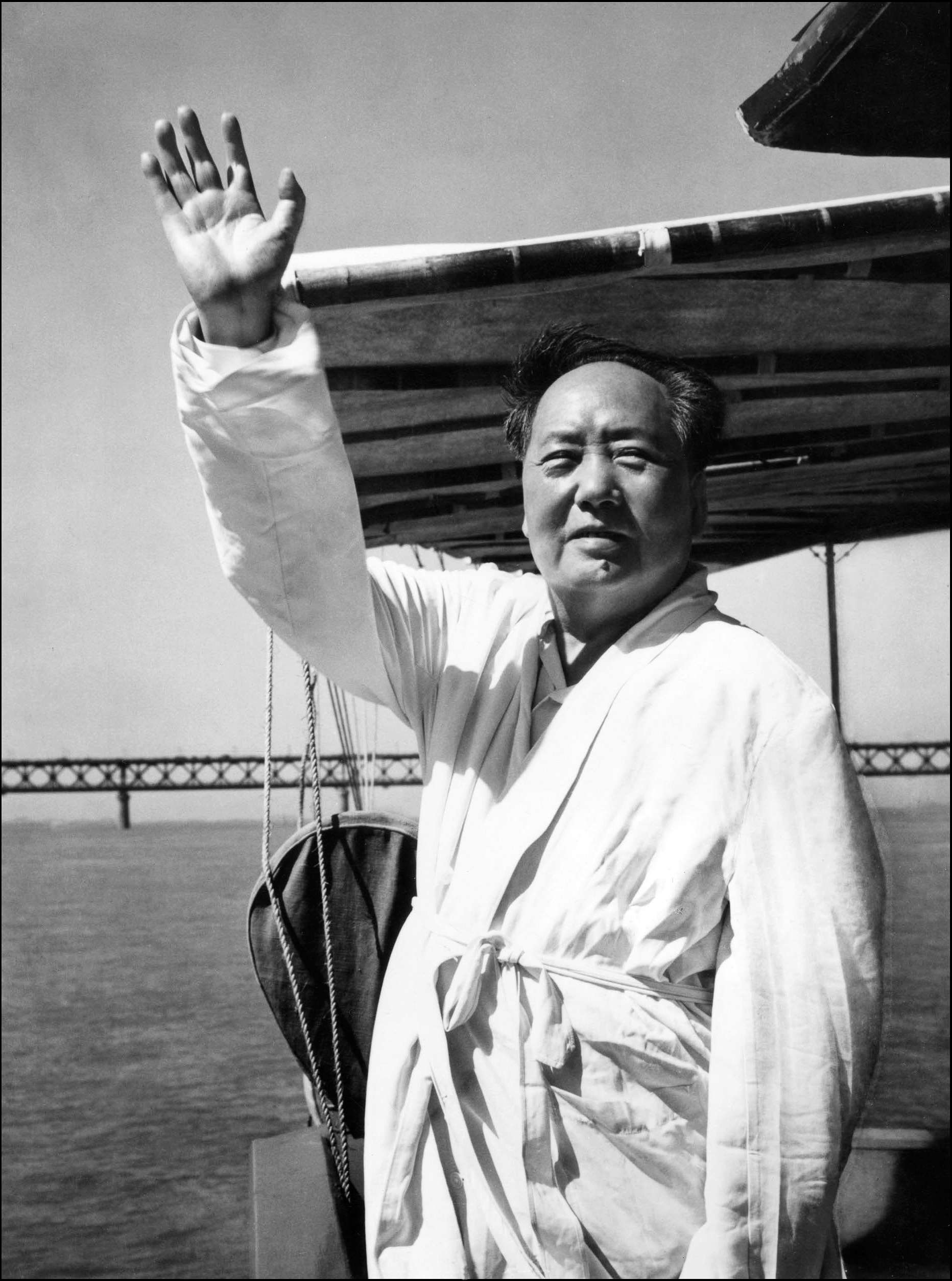 Image result for picture of chairman mao swimming the Yangtze""