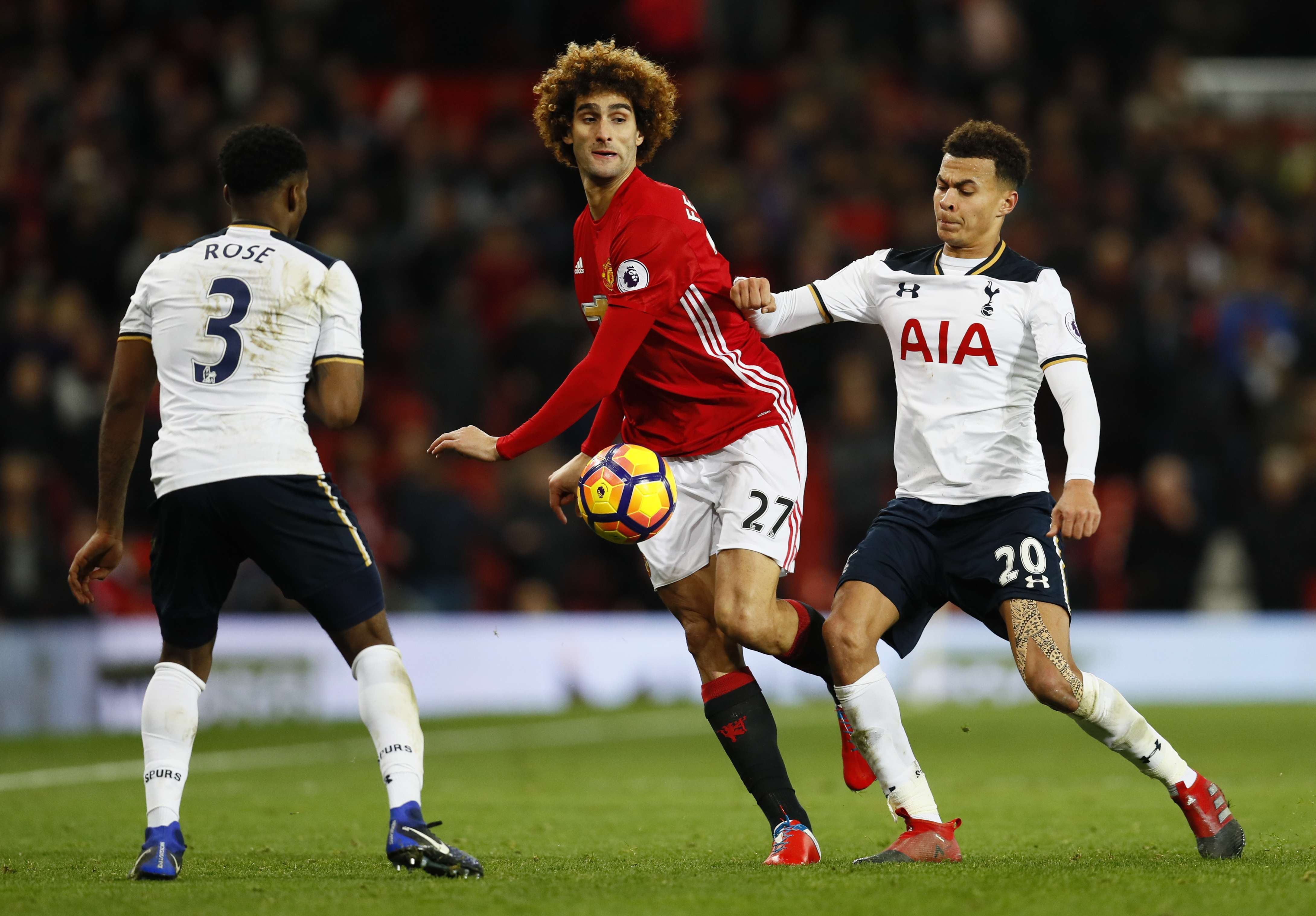 5339d798b Jose Mourinho accepts Manchester United fans  right to boo fall guy  Marouane Fellaini during Spurs win