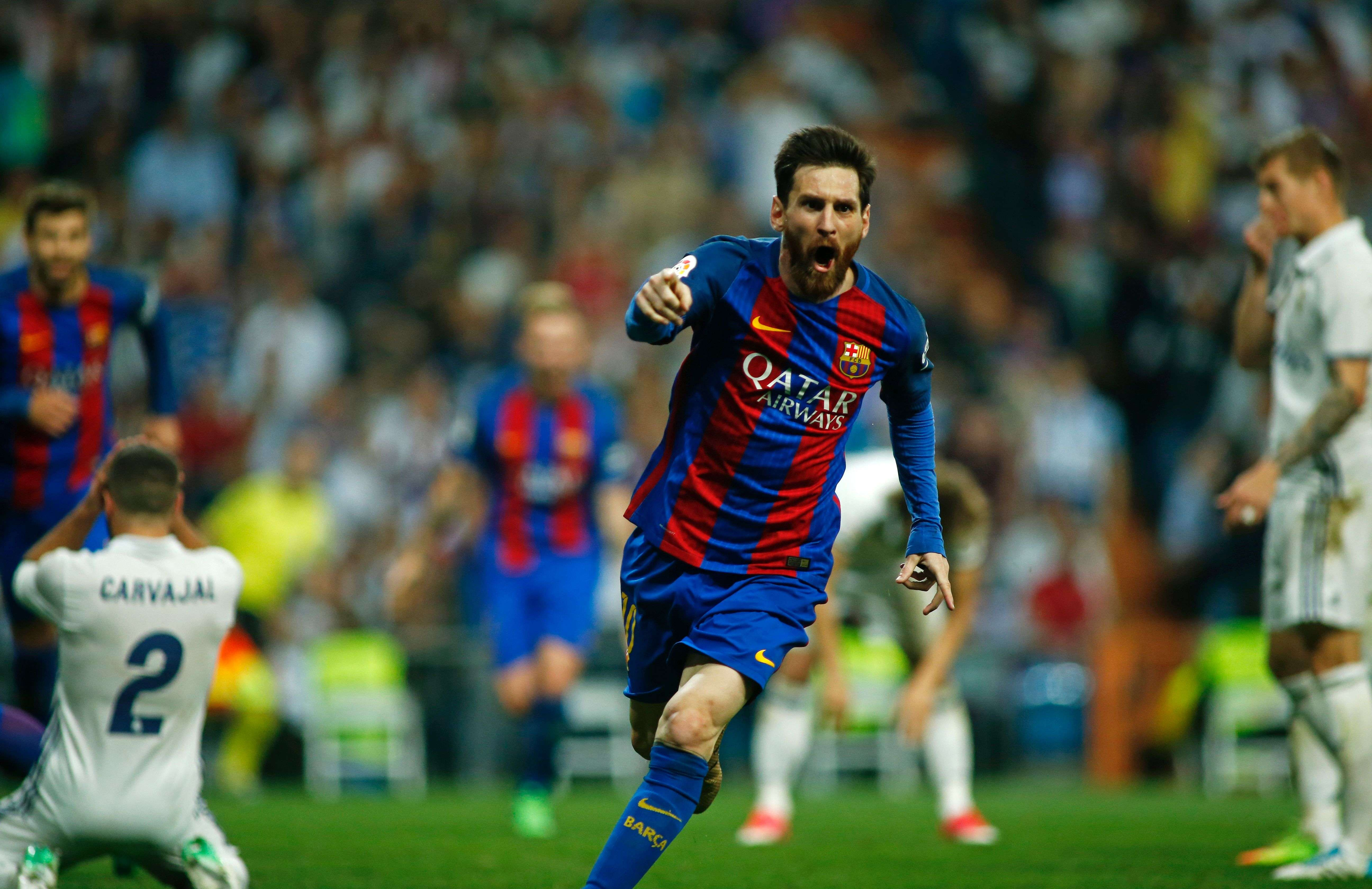 684c708ec20 'He is the best player in history' – Messi notches his 500th goal to win  Clasico for Barcelona and leave Ronaldo fuming | South China Morning Post