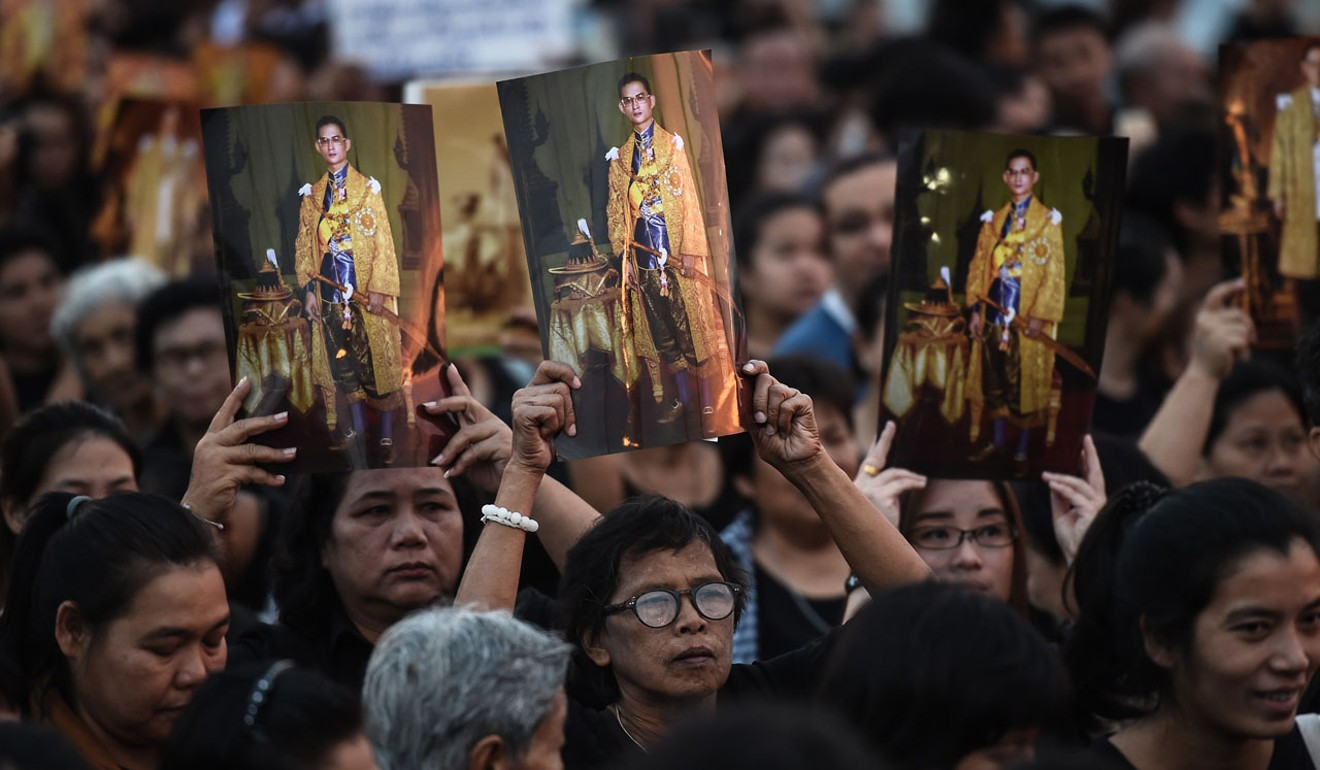Hundreds of thousands of Thais are expected to flood the capital's streets for the late King Bhumibol Adulyadej's cremation. Photo: AFP