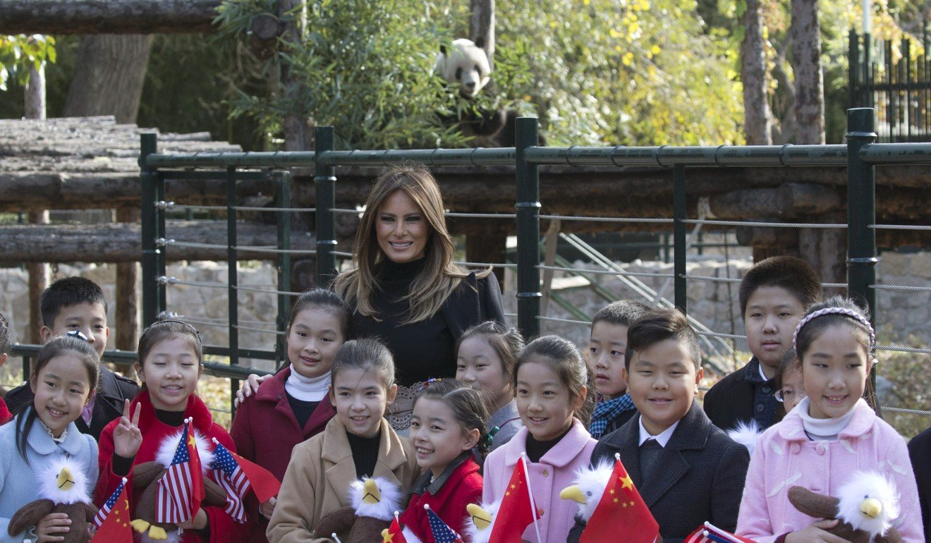 Great Wall And Meet And Greet With Giant Panda Gu Gu Cap Melania