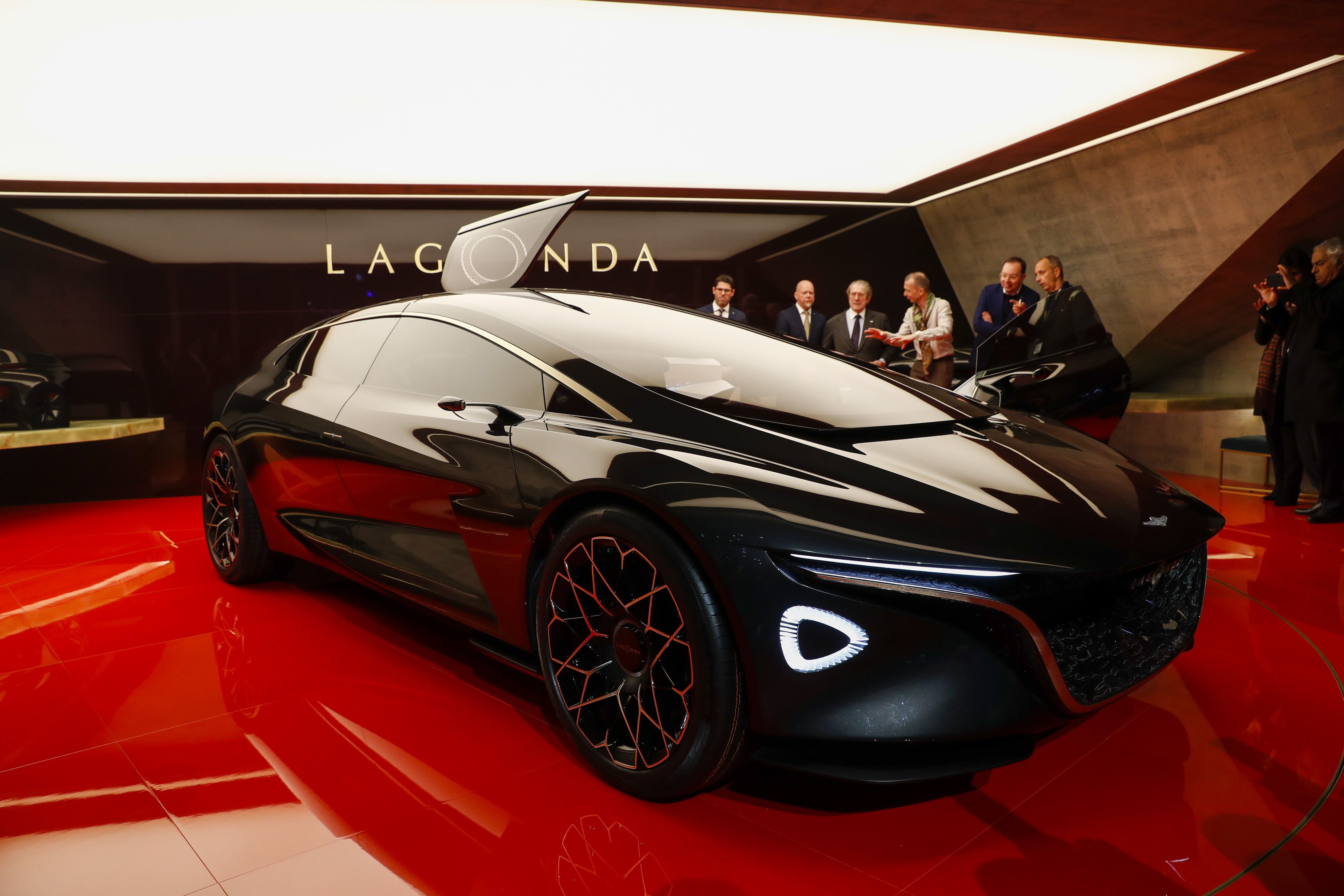 Aston Martin Revives Lagonda Luxury With An Electric Sedan Style - Car show chairs