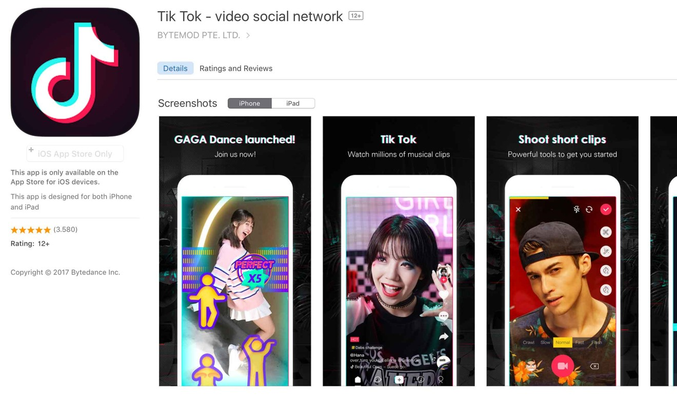 Tik Tok, currently the world's most downloaded iPhone app