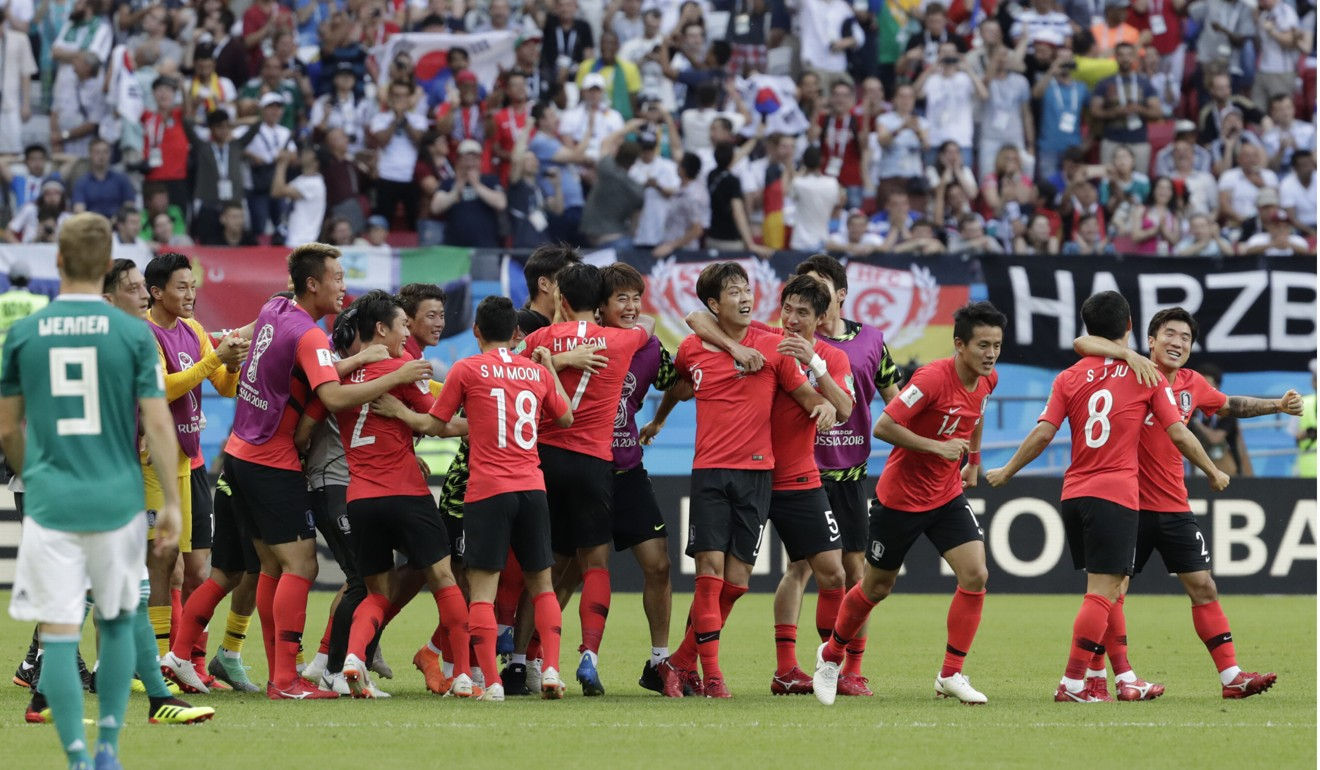 Fifa World Cup Defending Champions Germany Sent Packing From Russia Registrasi Tournament  3 Indonesia South Koreas Players Celebrate Stunning The Photo Ap
