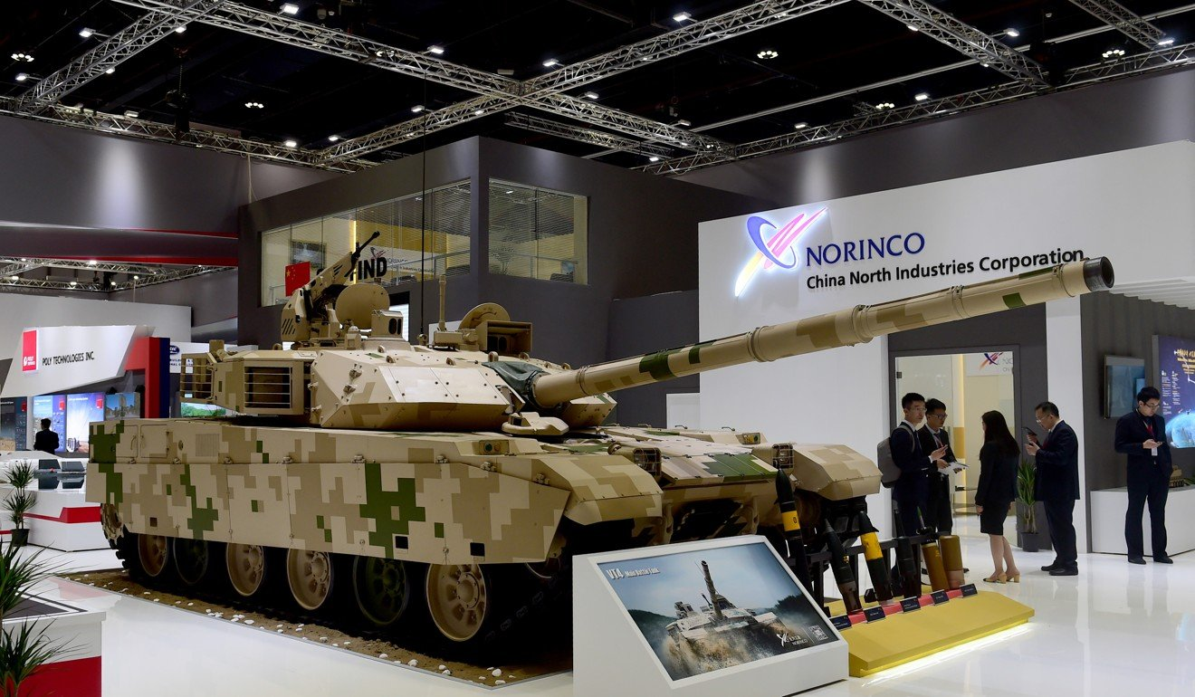 A VT4 main battle tank at the International Defence Exhibition and Conference in Abu Dhabi last year. Photo: Xinhua