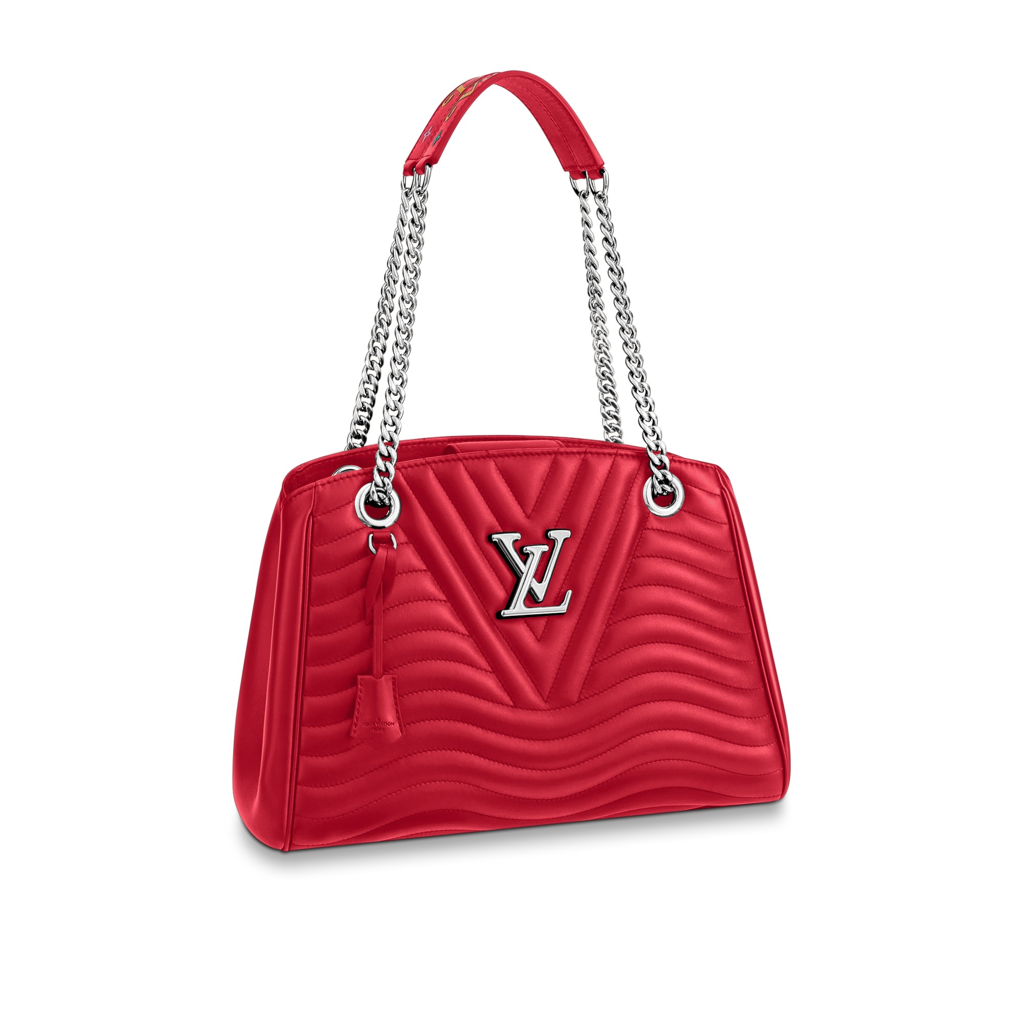 Handbags From The Louis Vuitton New Wave Collection Like Chain Tote Above Come In Classic Red And Black Colours As Well Smoothie Pink