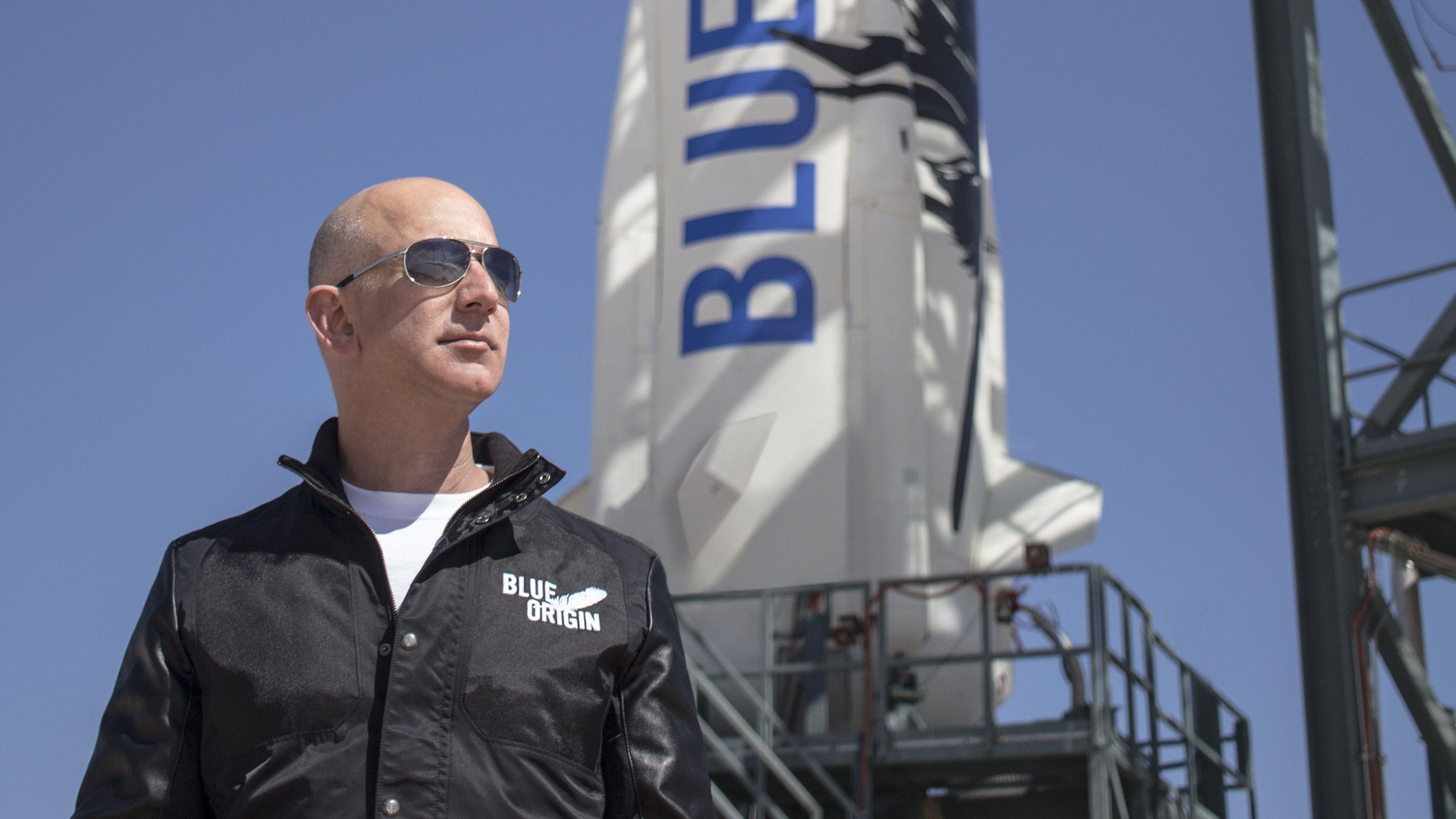 نتيجة بحث الصور عن Jeff Bezos + Space