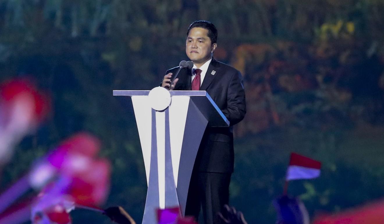 Inasgoc Chairman Erick Thohir At The Opening Ceremony Photo Epa