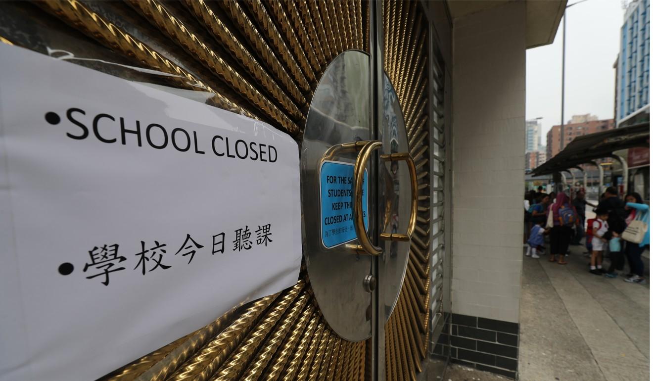 Secondary pupils at suspended Hong Kong school Tsung Tsin