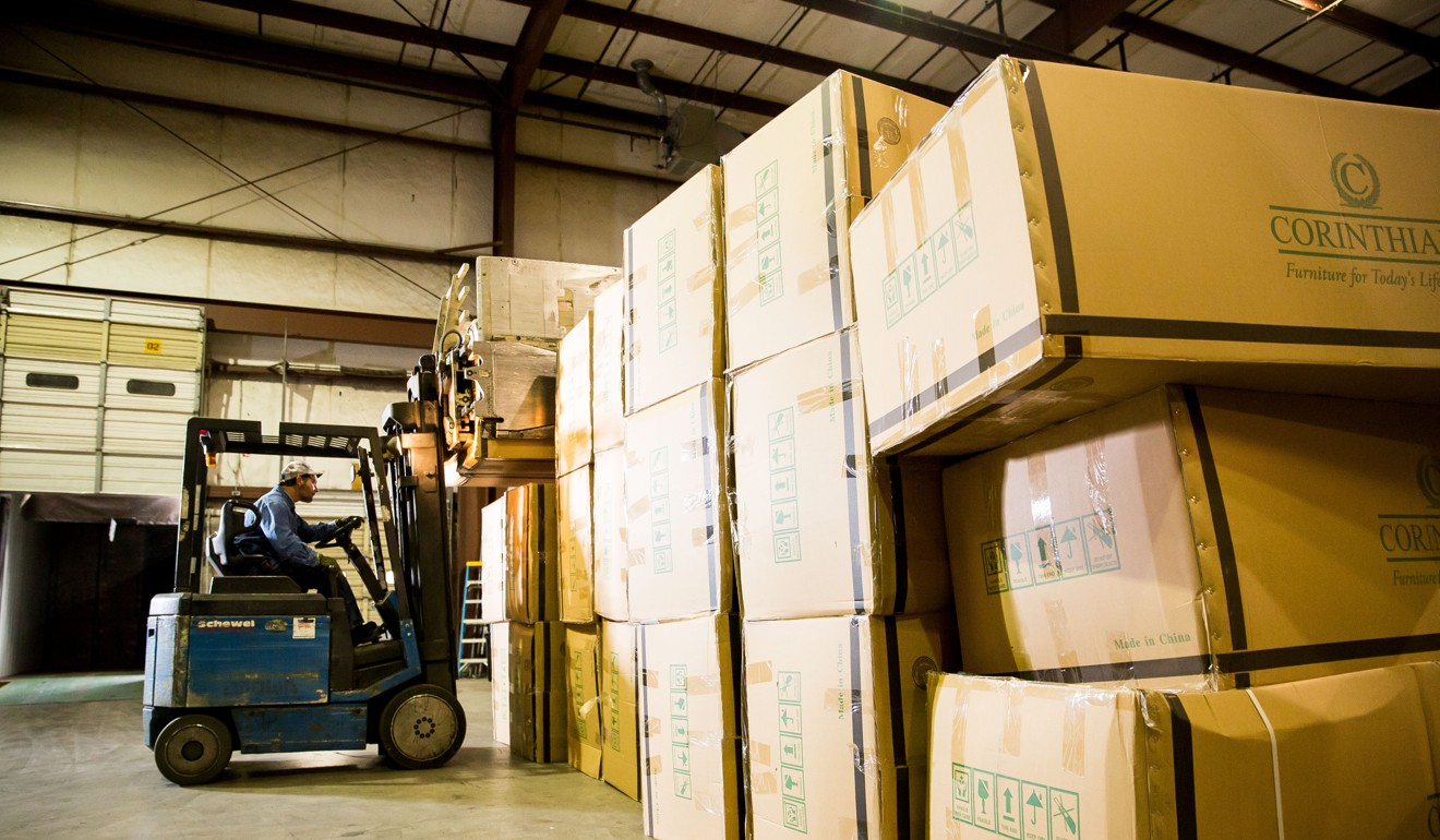 A shipment of Chinese-made products arrives at Schewel Furniture's warehouse in Lynchburg, Virginia. Photo: Politico/M Scott Mahaskey