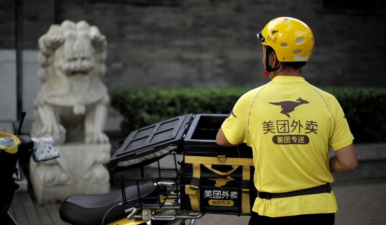 Meituan Dianping is an online platform that generates most of its revenue from food delivery. Photo: Reuters