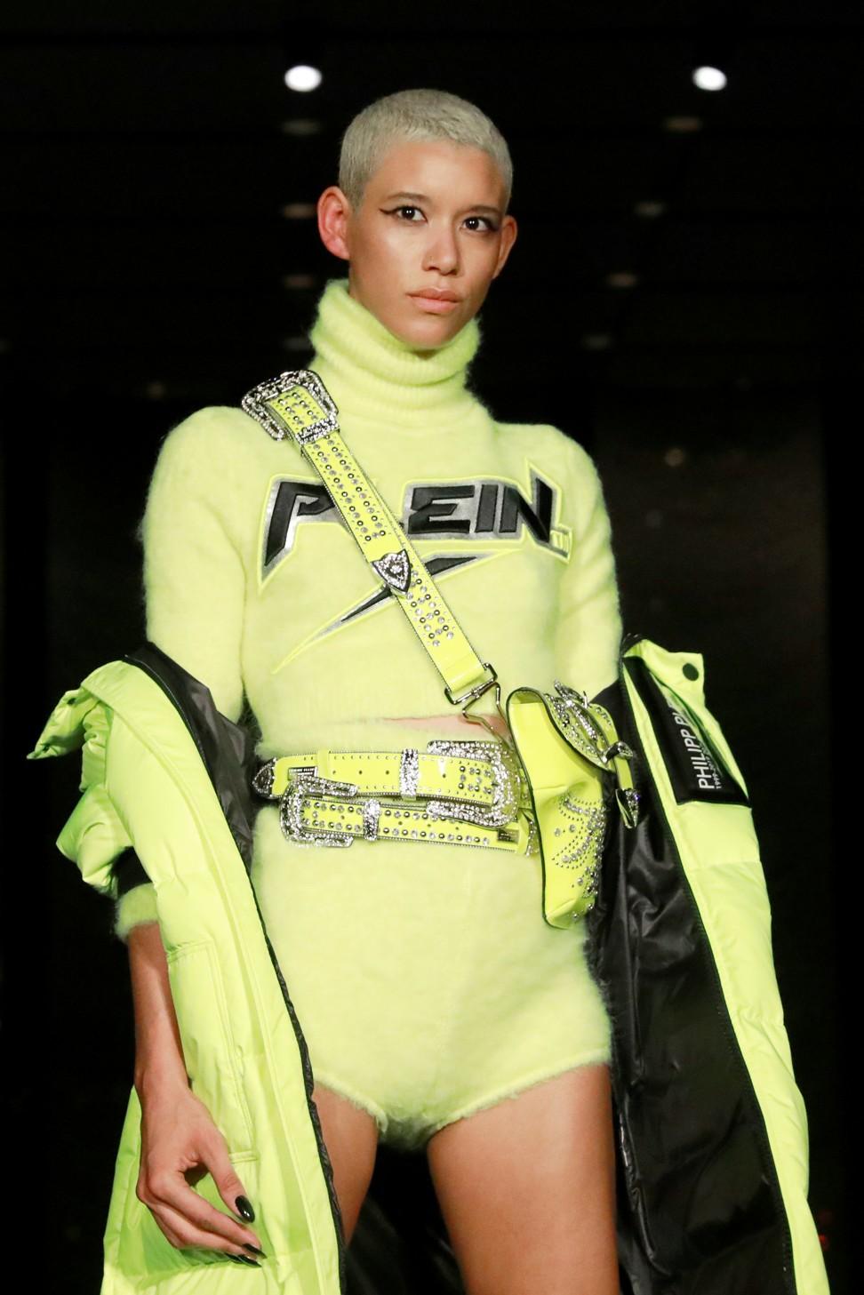 14c8690ab53 A model presents a creation from Philipp Plein at New York Fashion Week.  Photo: