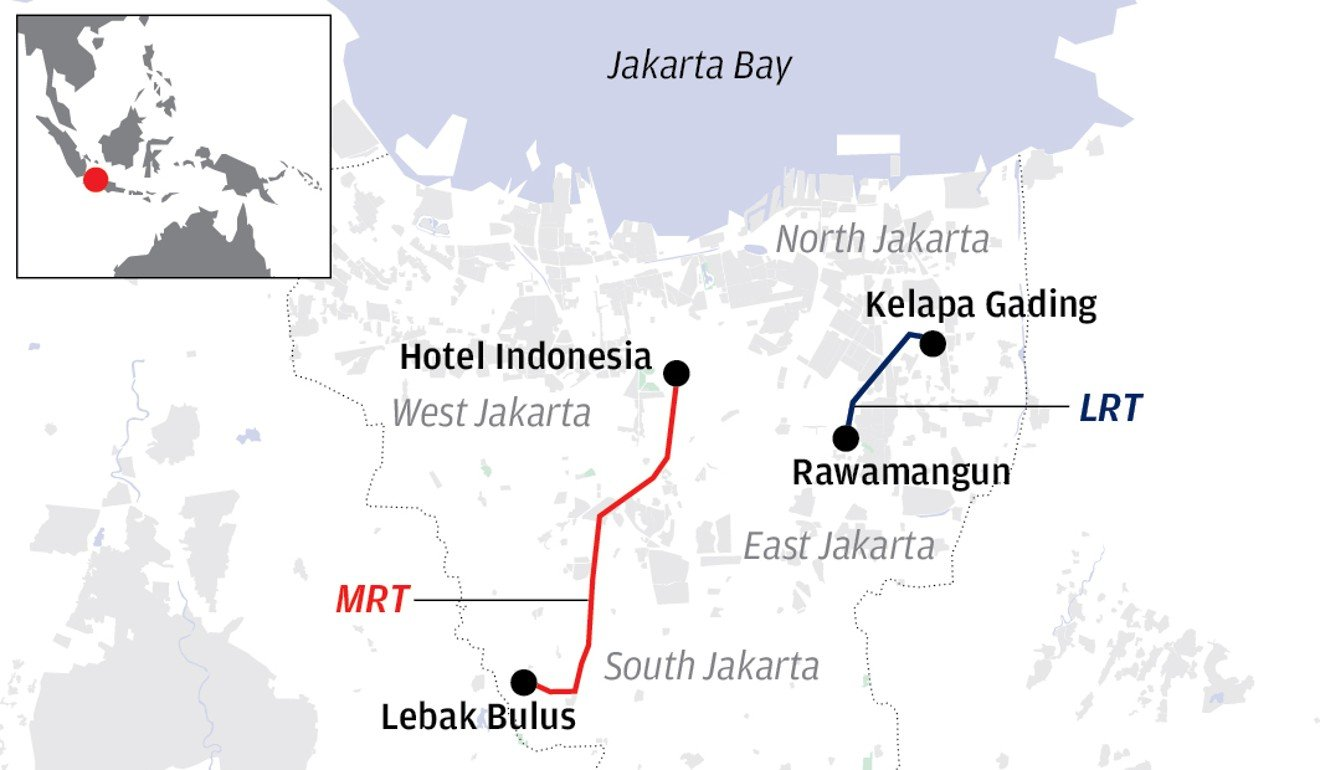 Jakarta's long ride to an MRT is almost over. Will it boost ... on palembang map, borobudur map, papua map, makassar map, solo map, malaysia map, australia map, yau ma tei map, sulawesi map, java map, sham shui po map, east map,