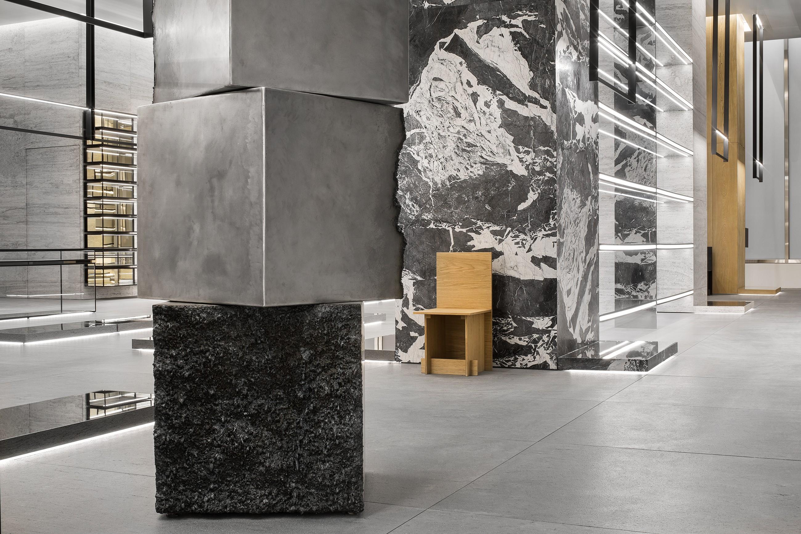 816dd74661d STYLE Edit  Hedi Slimane unveils Celine s visionary design concept at New  York flagship