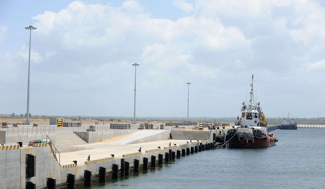 Controversial: the Chinese controlled port in Hambantota, Sri Lanka. Photo: AFP
