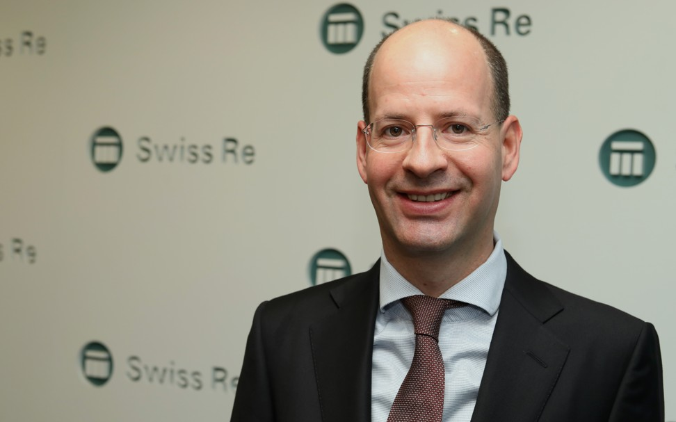 "Jerome Haegeli, Swiss Re Group chief economist, says ""Asia is the place to be"" for insurers. Photo: Roy Issa"