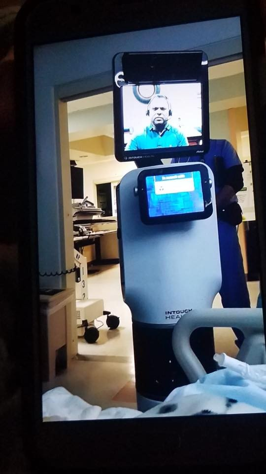 California man Ernest Quintana told he will die in days via robot video call from doctor