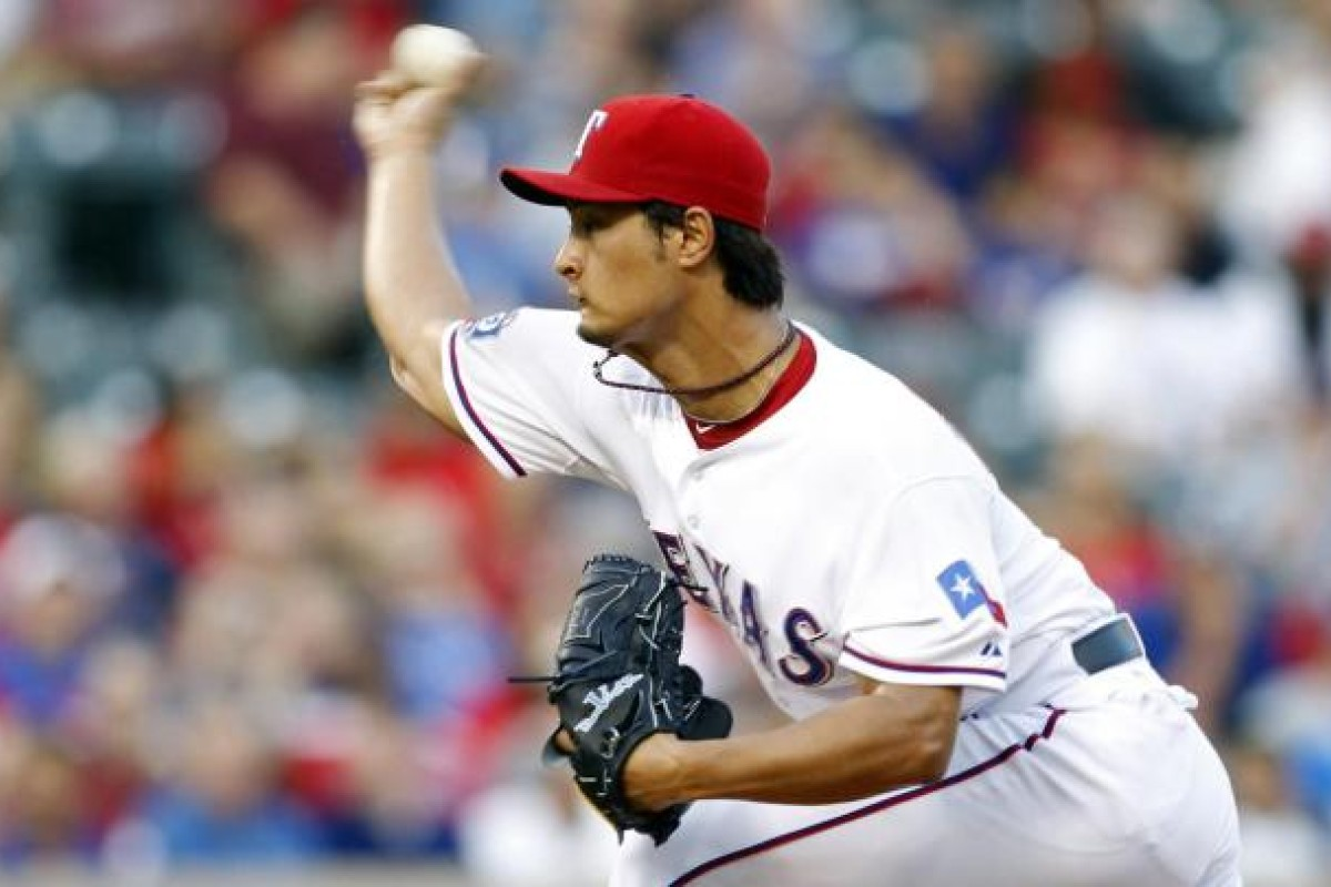 a65872c44 Yu Darvish pitches against the Tampa Bay Rays. Photo  Reuters