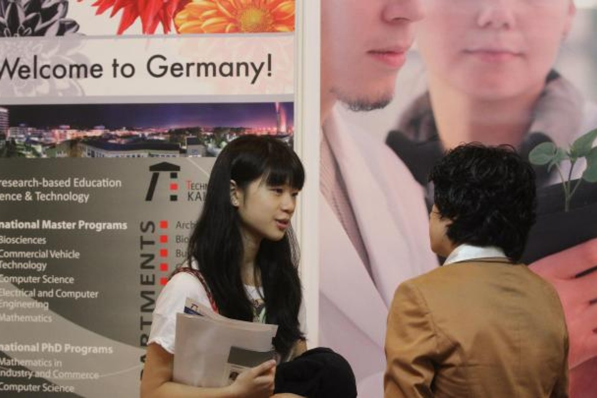 Free tuition fees draw crowd to German study booth   South