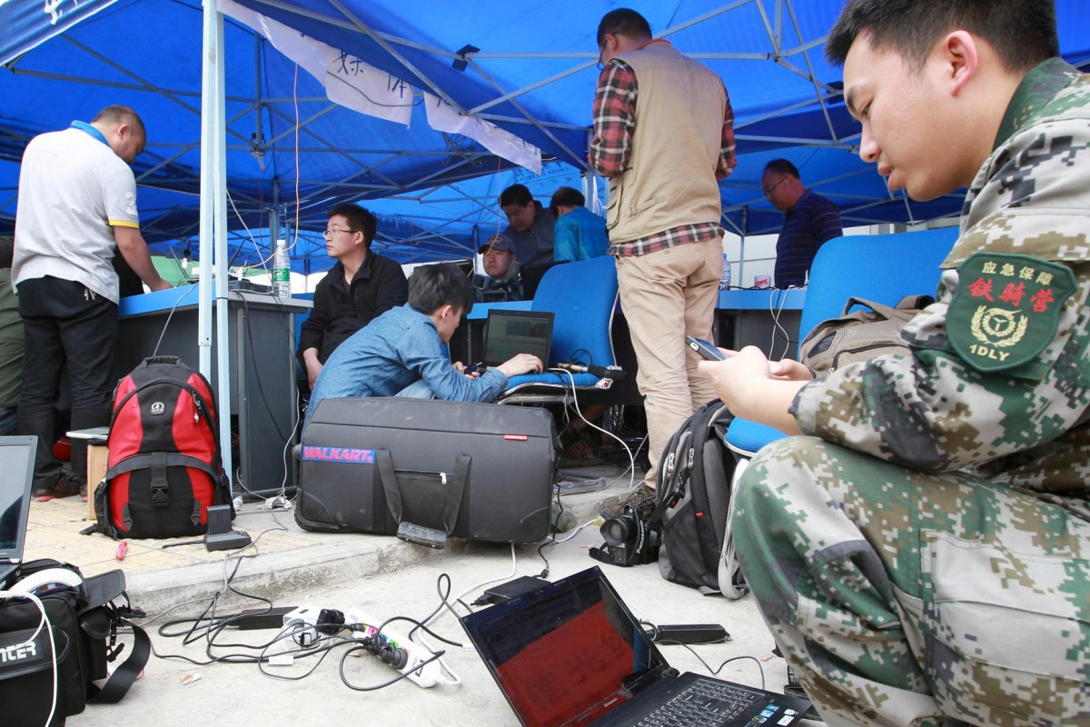 Outdoor media centre helps reporters spread message to the world