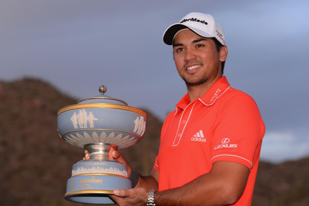 cc8c5d612a4 Jason Day with the Walter Hagen Cup after defeating Victor Dubuisson of  France in the Match