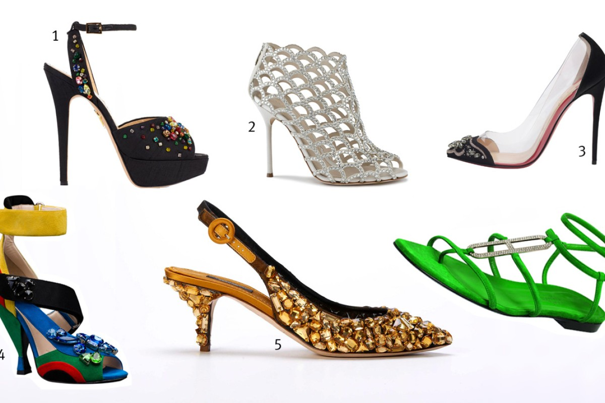 a57faebd4 Shoes that sparkle are all the rage this season
