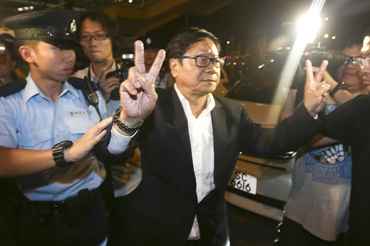 1ef003ffa253 Lawmaker Wong Yuk-man arrested for throwing glass at Chief Executive ...