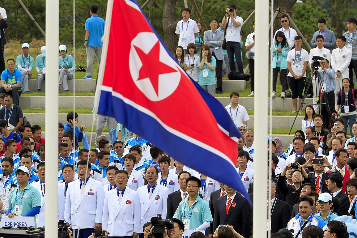 213dada0d72 North Korean athletes attend the team welcoming ceremony of the 17th  Incheon Asian Games at the
