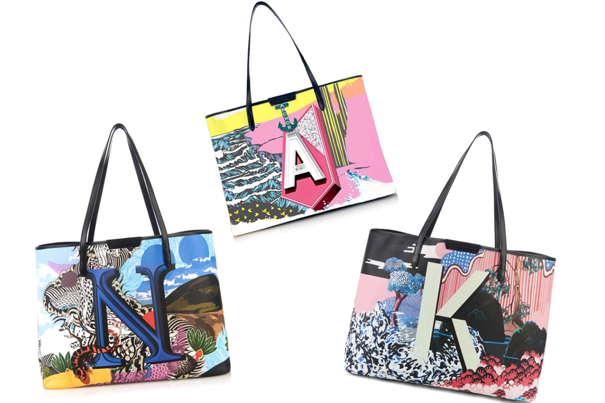 2f53c24bed London-based Greek fashion designer Mary Katrantzou has collaborated with  online luxury retailer matchesfashion.com to create the 26-piece, A to Z  tote bag ...