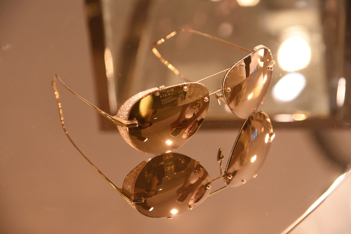 39f0ad4d3c5 Linda Farrow s 18ct gold sunglasses with 24ct gold lens priced at  HK 245