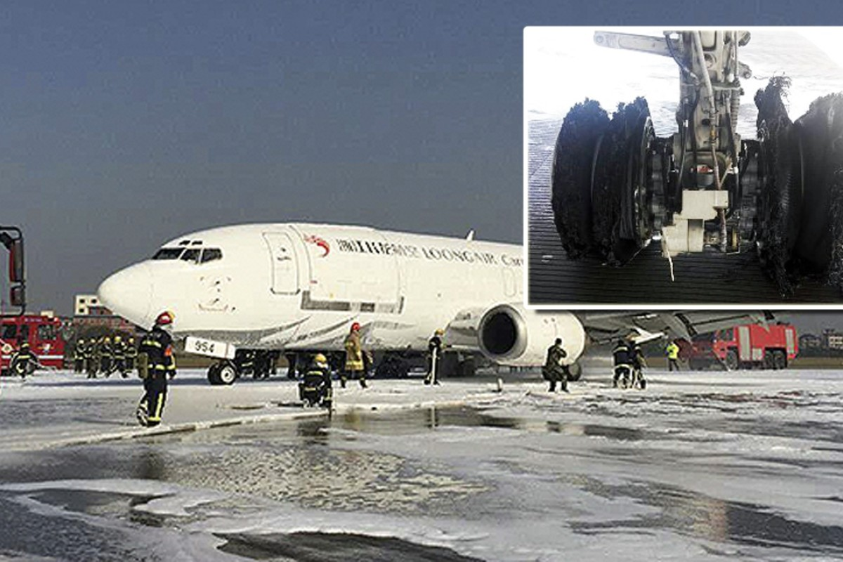 Chinese cargo plane makes emergency landing after tyres