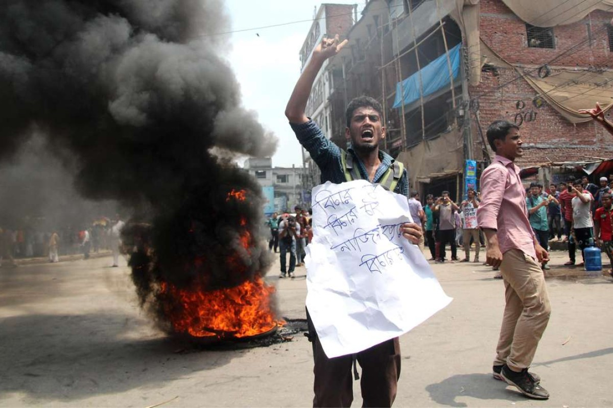 Bangladeshi student activist hacked and shot to death, sparking