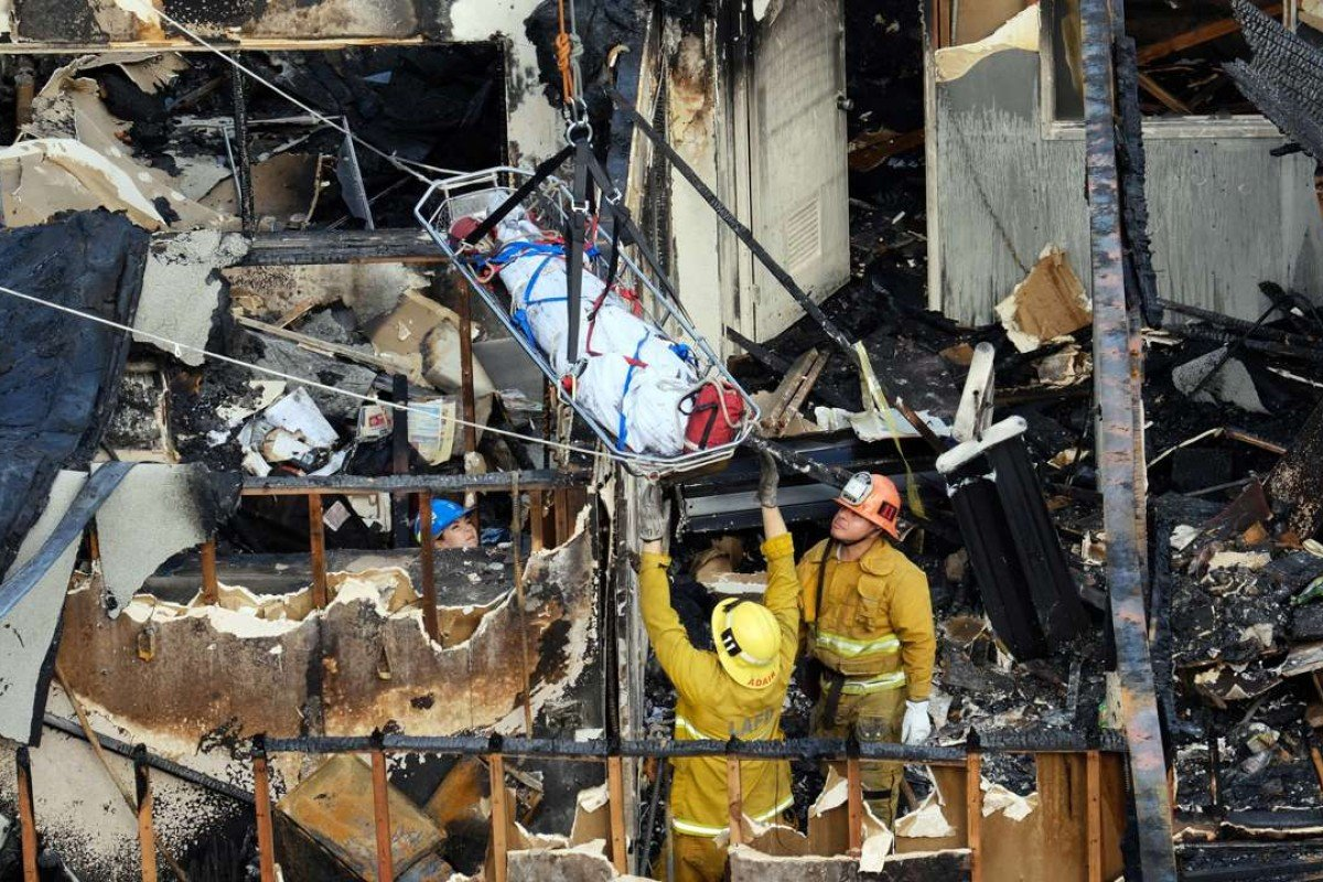 Five homeless people found dead inside burned ruins of Los