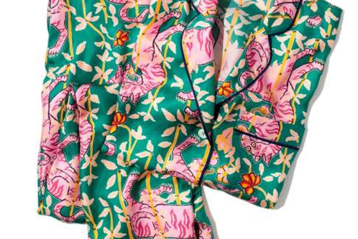 Drake's and J Crew's playful tiger-print pyjamas a roaring hit