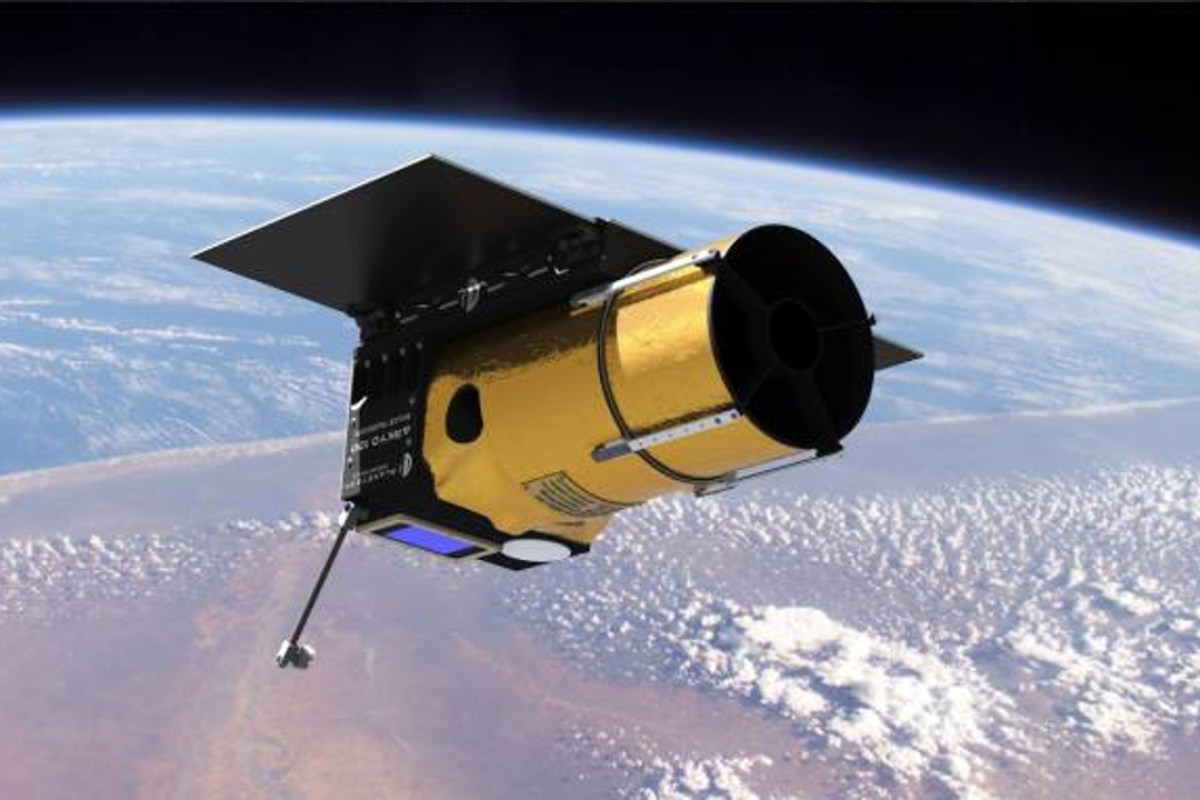 The Arkyd 100 (A100) small satellite used by Planetary Resources to gather compositional data of asteroids during prospecting missions. Photo: Planetary Resources
