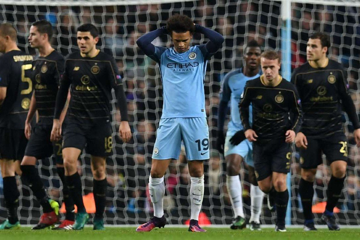 f42eac26e1f Manchester City s Leroy Sane is frustrated as his side fail to grab a  winner against Celtic