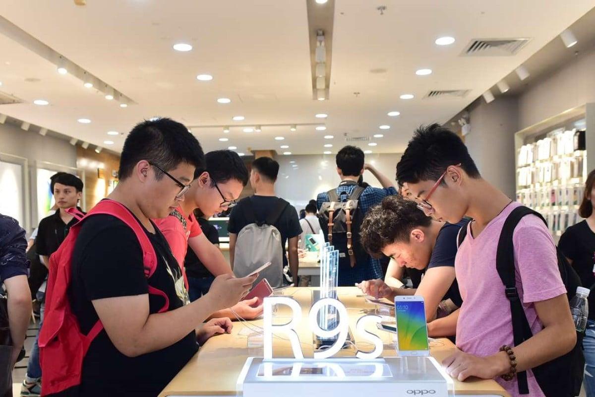 An Oppo experience store in Guangzhou. Photo: Handout