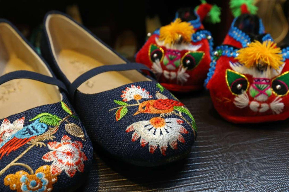 9e075a0082729 Grandma's classic Hong Kong embroidered slippers given a fashion ...