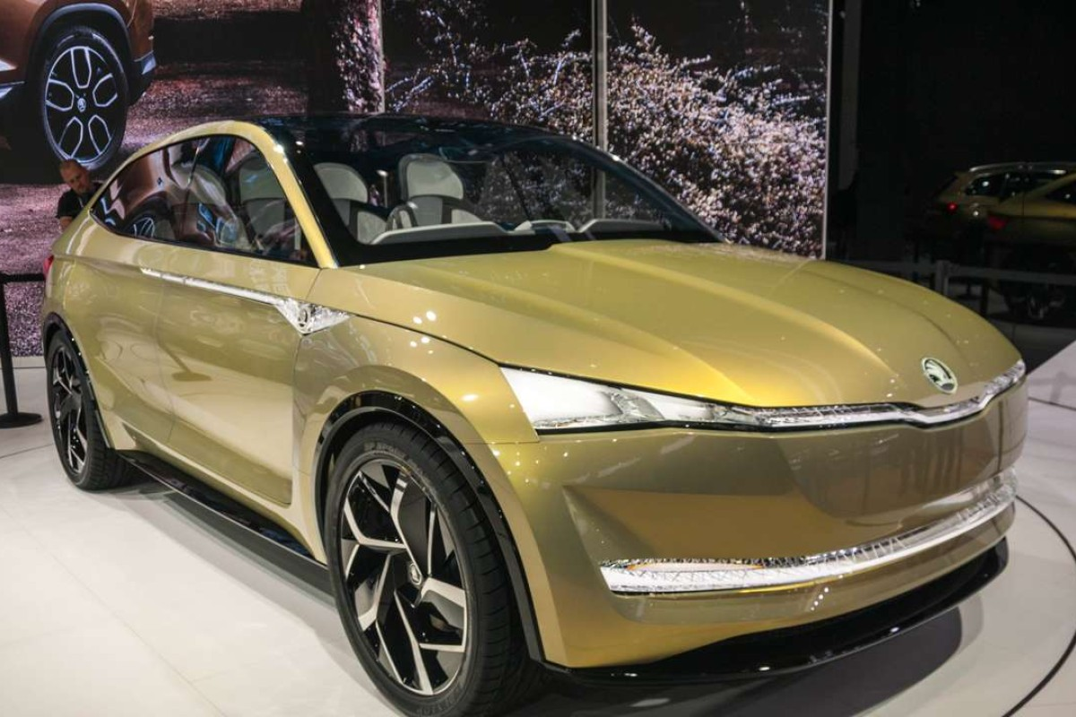 Skoda S Vision E Electric Autonomous Suv Concept Was One Of Many And Smart Cars