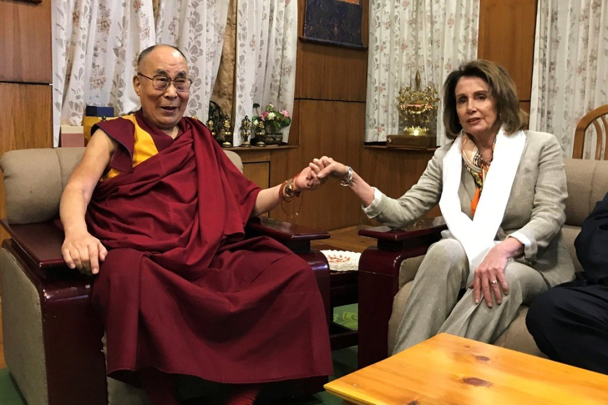 Top Us Democrat Nancy Pelosi Visits Dalai Lama In India As Trump Warms To China South China Morning Post