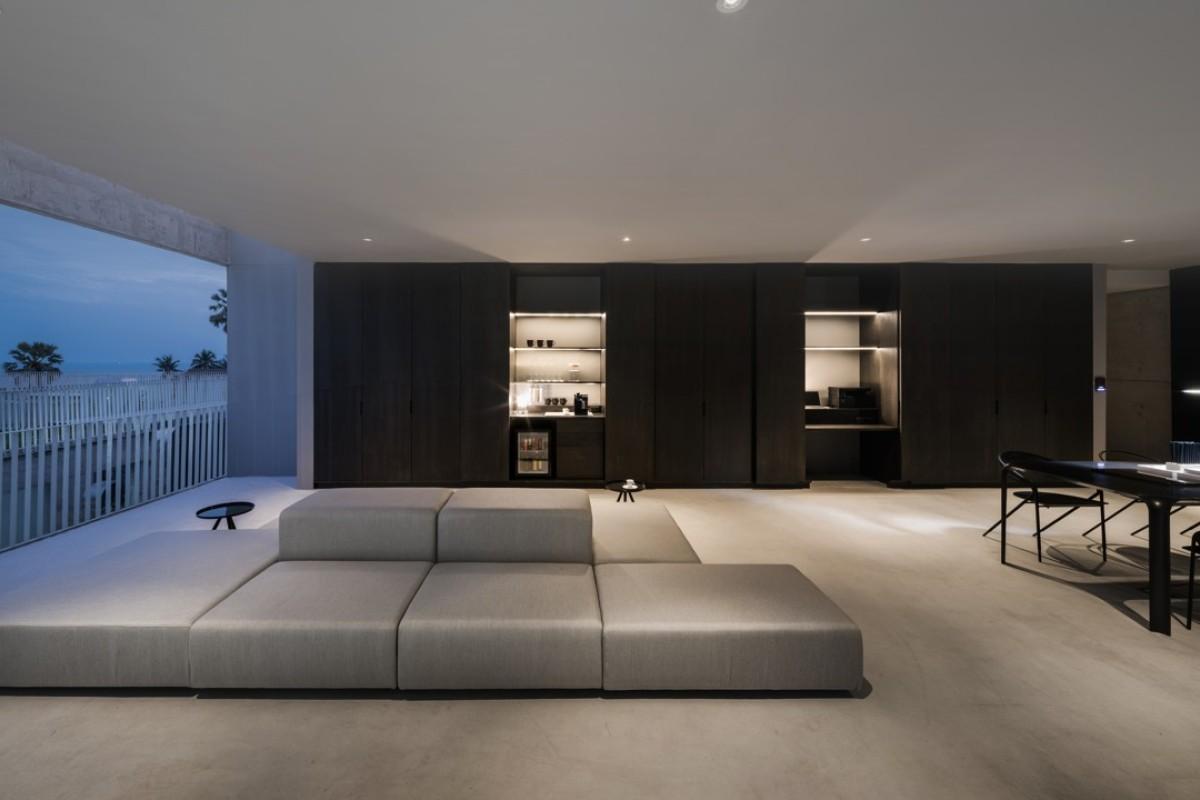 Pendant Lights Minimalist Lobby Bedchamber Thpanels Rectangular Shape Air Waves Led Border-Ceiling WHKHY Fashionable