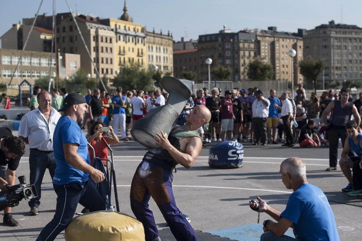 Weighty pursuits at the 'Basque Olympics', where stone lifters, wood