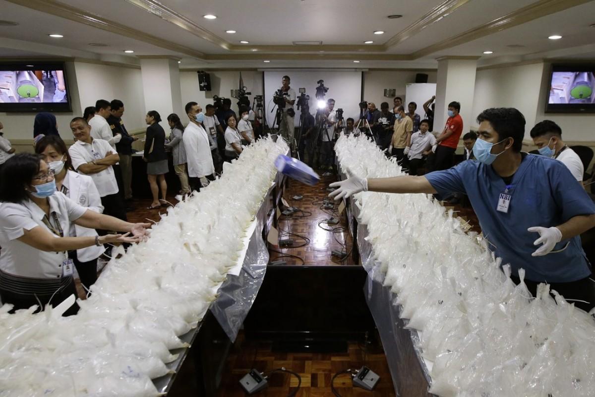 Philippine authorities seize meth shipment worth US$121