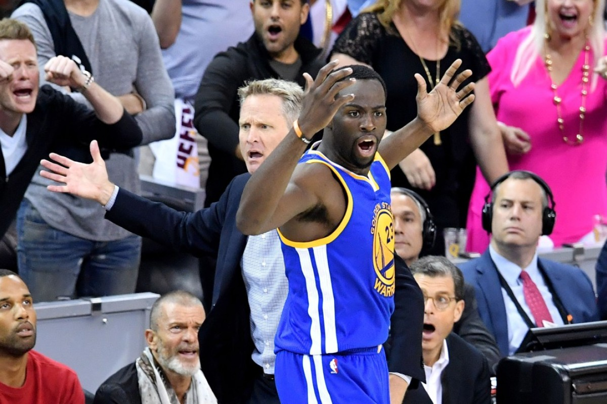 52c454b1fa0c Steve Kerr and Draymond Green react to the call against the Cleveland  Cavaliers during the first