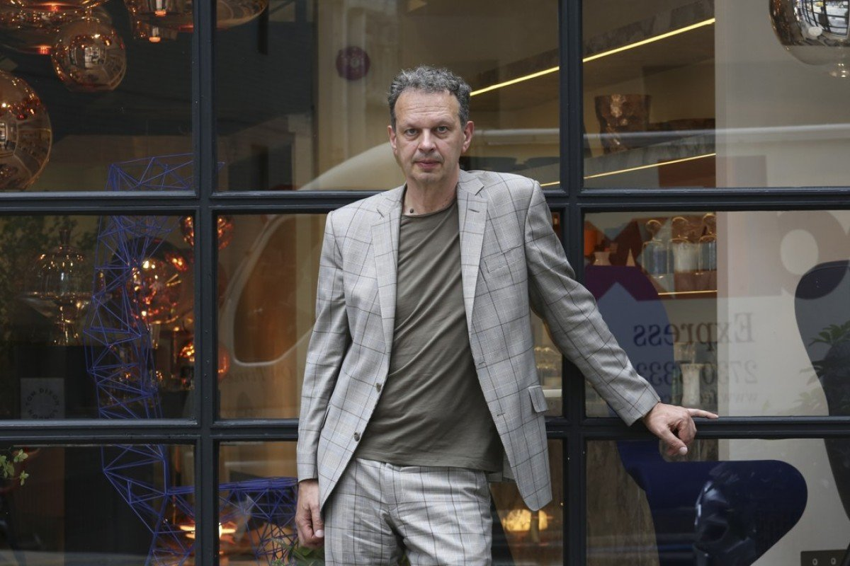 343b31c4a7d1 British designer Tom Dixon at his store in Hollywood Road, Central. Photo:  Jonathan