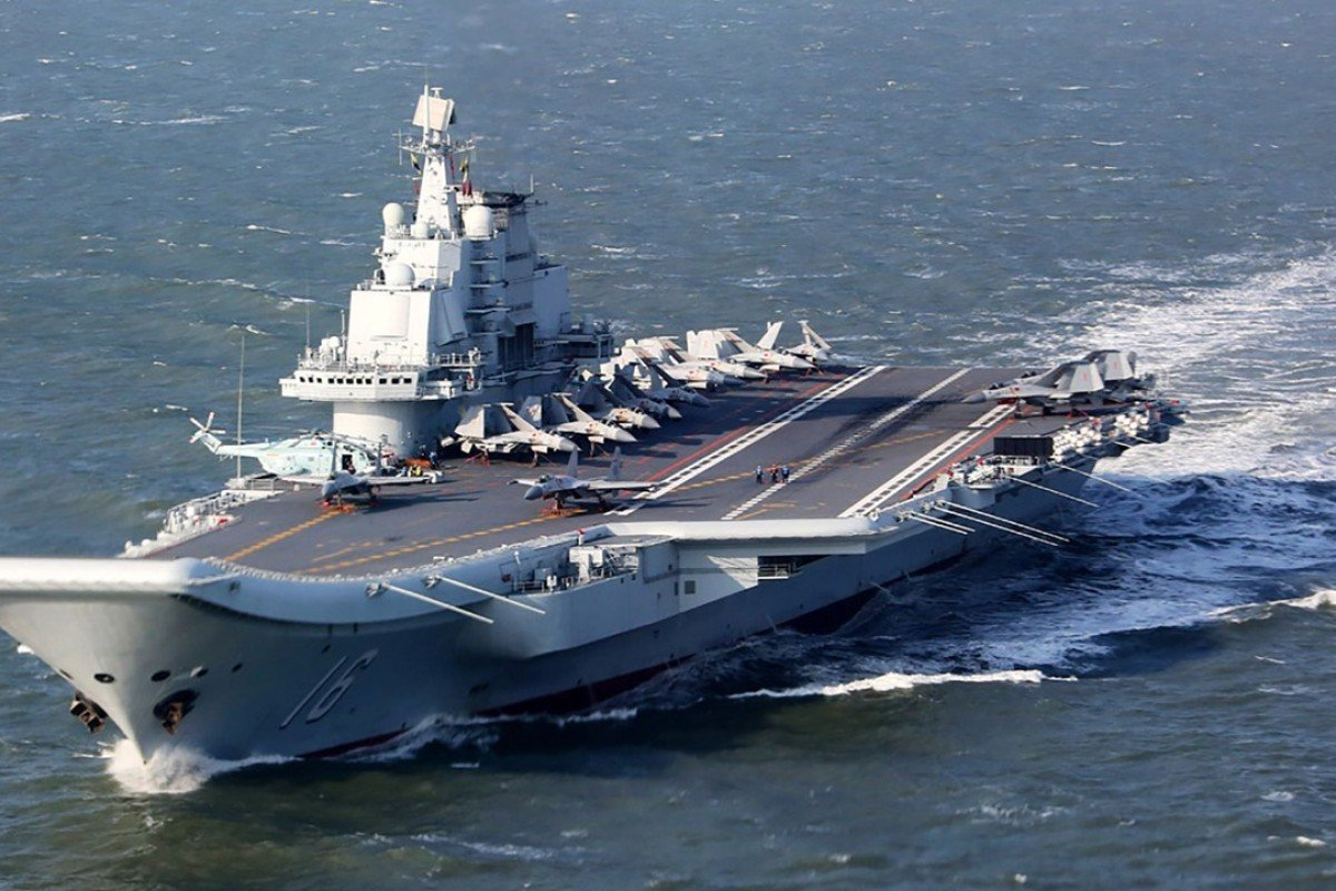 Mainland carrier Liaoning and battle group enters Taiwan