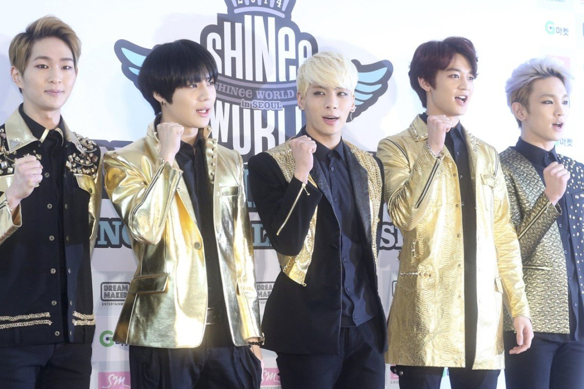 7ce38b698fb South Korean boy band Shinee are among the stars of stage and screen whose  looks Korean