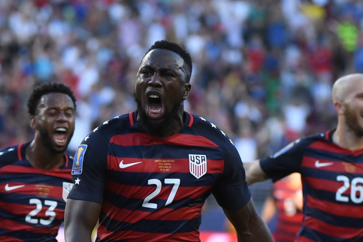 2d27a842afa USA s Jozy Altidore celebrates scoring a superb free-kick during the USA s  2-1